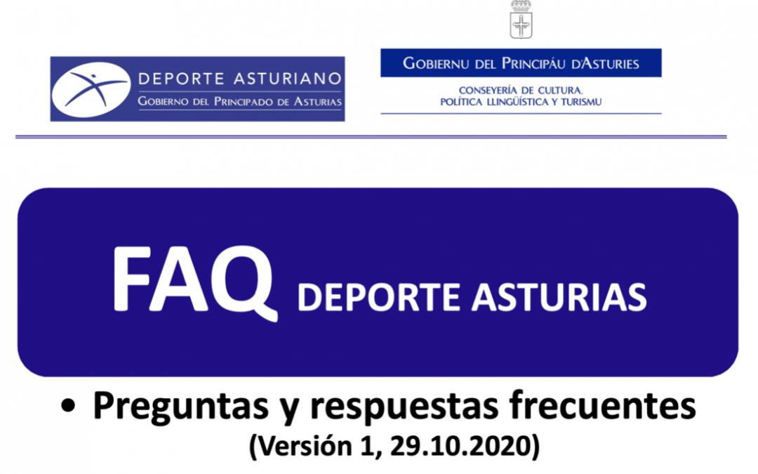 Preguntas frecuentes del Deporte en Asturias ante el covid-19
