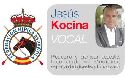 Jesús Kocina, vocal en la nueva Junta Directiva de la Real Federación Hípica Española