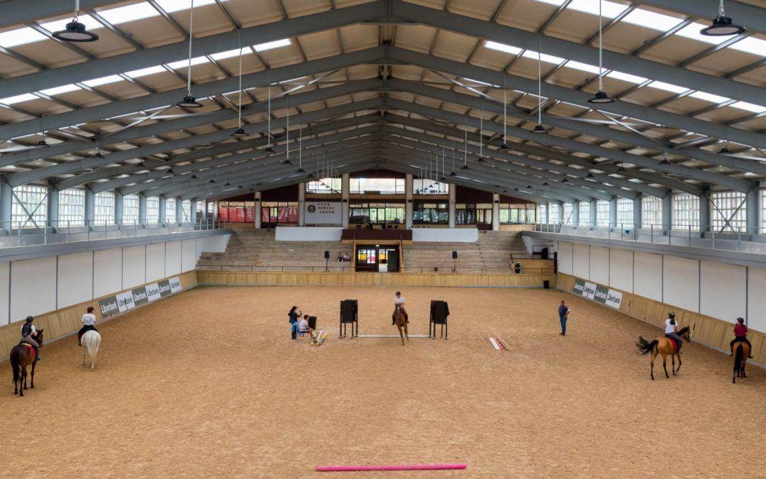 Uso de las pistas hípicas durante el Gijón Horse Jumping 2021