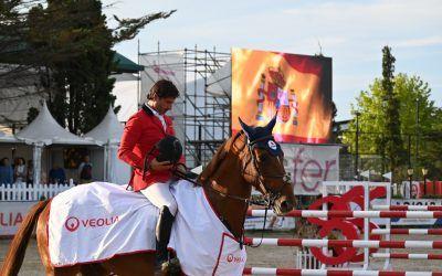 El Trofeo Veolia, nuevo triunfo de Iván Serrano en el Gijón Horse Jumping