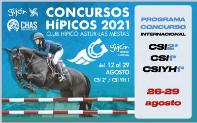 Triple cita para clausurar los internacionales del Gijón Horse Jumping