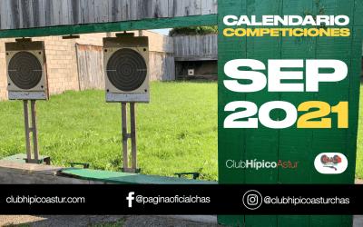 Calendario de las competiciones de tiro en septiembre