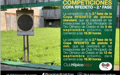 Próximas competiciones de la Copa RFEDETO